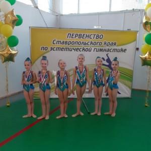 Наши гимнастки заняли призовые места в Первенстве края по эстетической гимнастике