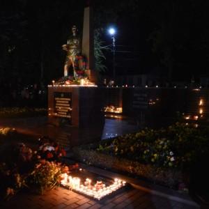 """В Новопавловске прошла акция """"Огни памяти"""""""