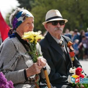 В Новопавловске отметили 74-ую годовщину Великой Победы (фото 3)