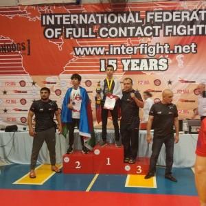 Спортсмен Новопавловского спортивного клуба занял первое место в Чемпионате по рукопашному бою