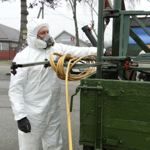 В Новопавловске началась усиленная дезинфекция мест общественного пользования (фото 1)