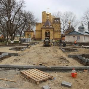 Работа по благоустройству культурно-исторического центра города Новопавловска выполнена на четверть