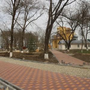 Работа по благоустройству культурно-исторического центра города Новопавловска выполнена на четверть (фото 8)
