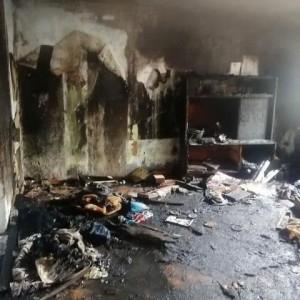 Семья из Новопавловска осталась без дома из-за пожара